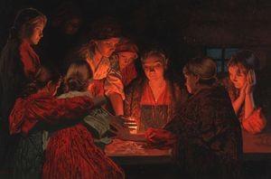 Раз в крещенский вечерок девушки гадали